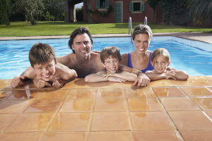Family swimming pool