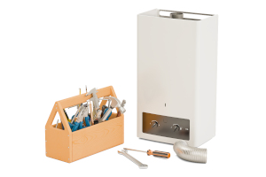 Water heater and toolbox