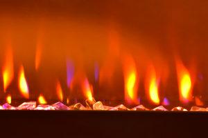 Propane fireplace flames