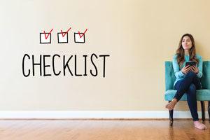 Sitting woman checklist