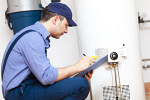 Checking water heater