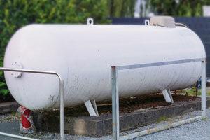 Aboveground propane tank