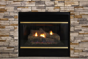 Fireplace gas log set